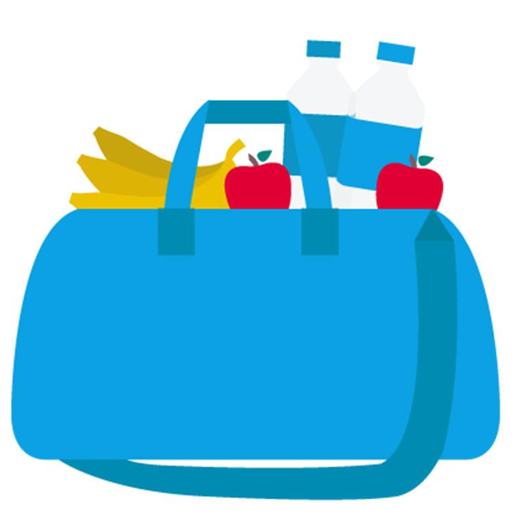 gefüllte Einkaufstasche
