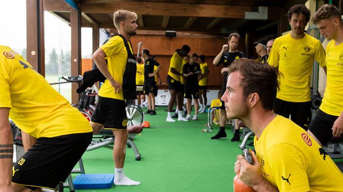BVB-Spieler beim Training im Fitnessstudio