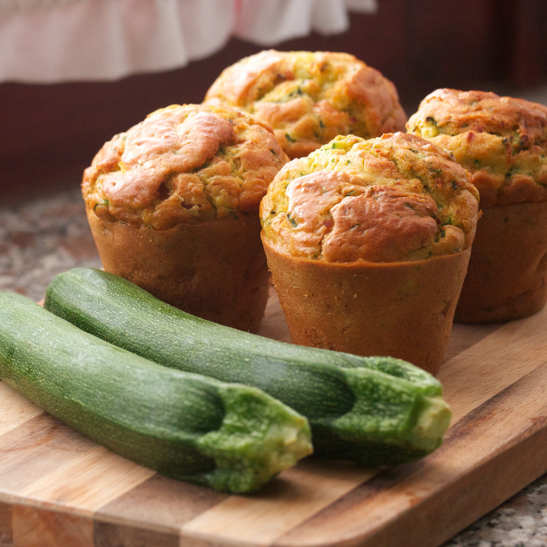 Muffins mit Zucchini und Möhre