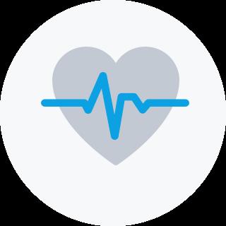 Herz mit einer Linie des Herzrhythmus