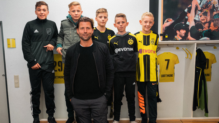 Nordhorner Kids mit BVB-Legende Roman Weidenfeller