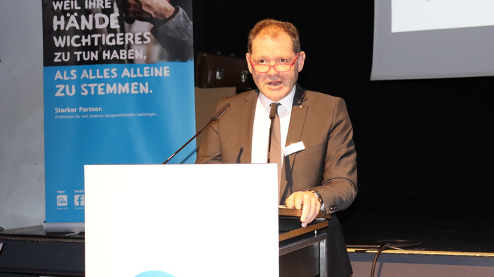 Joachim Sigg am Rednerpult