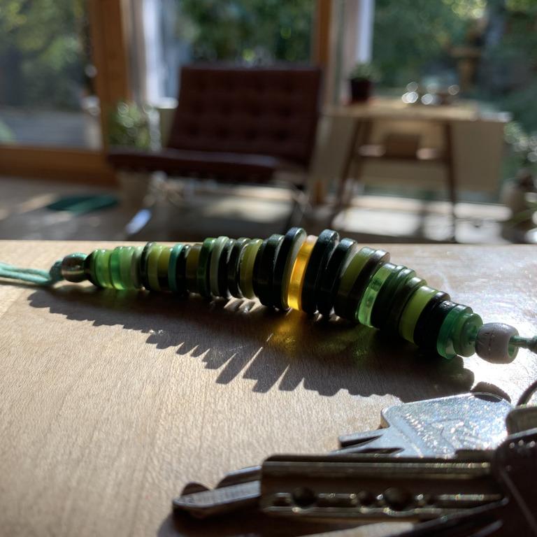 selbst gebastelter Schlüsselanhänger