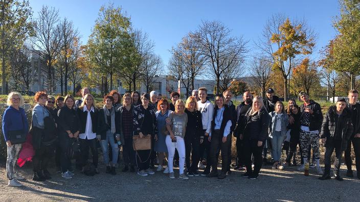 Gruppenbild Teilnehmer HairShuttle aus Schwandorf und Amberg