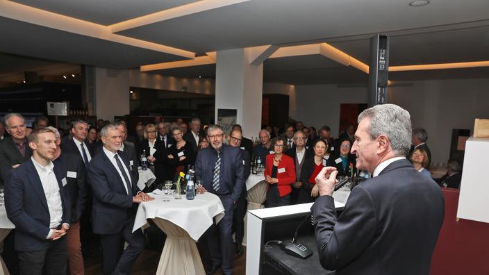 EU-Kommissar a.D. Günther H. Oettinger am Rednerpult