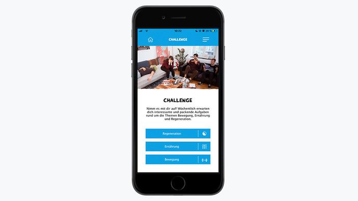 Smartphone mit Bildausschnitt missionmacher-App zur Challenge