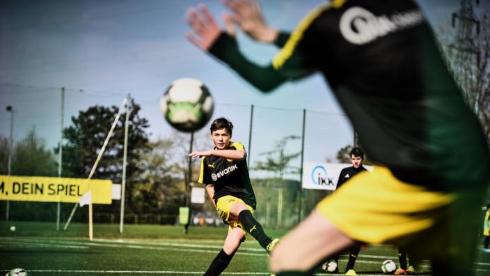 Fußballkids beim Training