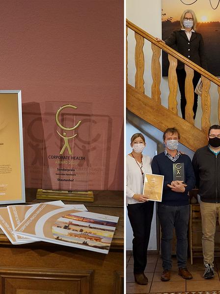 Der Stautenhof gewinnt den Corporate Health Award 2020