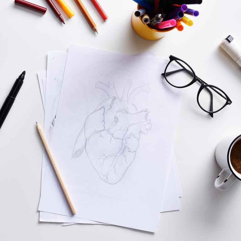 Zeichnung eines Herzens