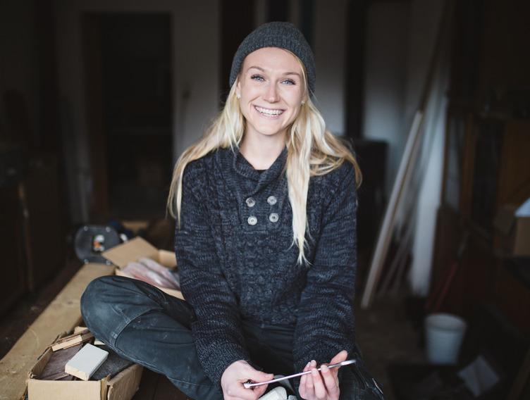 Luisa Buck arbeitet als Frau in einem Männerberuf