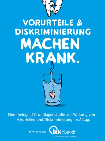 """Deckblatt der Studie """"Vorurteile machen krank"""""""