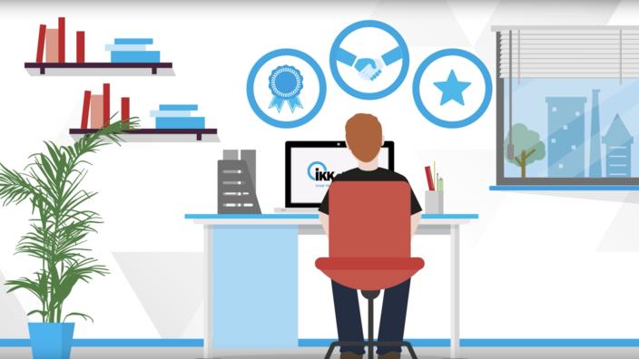 Startscreen des Erklärvideos zur IKK Onlinefiliale