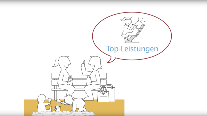 Startscreen des Erklärvideos zum Krankenkassenwechsel